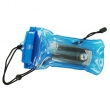 Blue waterproof mobile phone pouch